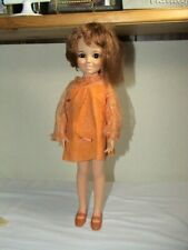 "Vintage Ideal ' Beautiful Crissy Growing Red Hair Doll 18"" Original Dress 1968"