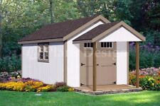 20' x 10' Potting Patio / Pool House Shed Plans #P72010, Free Material List