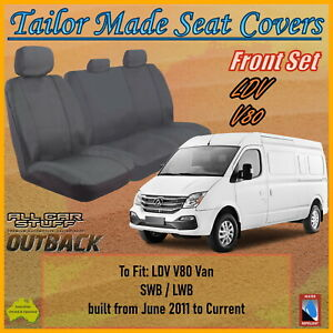 Tailor Made Grey Canvas Seat Covers for LDV V80 Van SWB/LWB: 06/2011 to Current