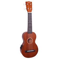 MAHALO MJ1VTTBR Java Series. Soprano Electric/ Acoustic Ukulele **