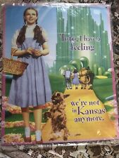 """Wizard of Oz """"We're Not In Kansas Anymore"""" Movie Wall Metal Tin Sign 15""""x12"""" New"""