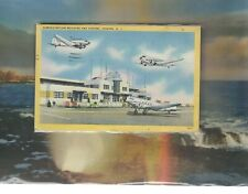 American Airlines Dc-3s at. Newark Nj airport linen postcard
