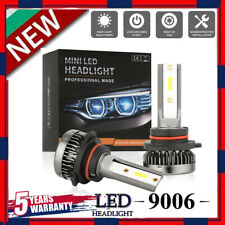 MINI 9006 LED Headlight Bulbs Conversion Kit 200W 48000LM 6000K Hi/Lo Beam Lamps