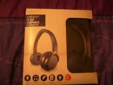 SILVER CREST  Bluetooth Headphones Cordless Audio Enjoyment Black BOXED NEW