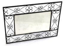 Cadre photo 10x15 en verre fer vintage noir 10x15 à poser gothique stock France