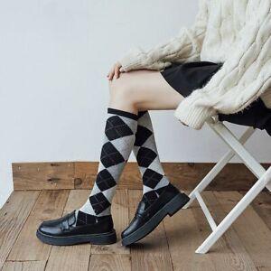 Lolita Check Stocking Thigh-High Socks Academy Thigh Knee High Socks Jk Socks/