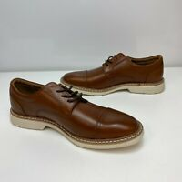 Alfani Marshall Tan Brown Mens Leather Cap Toe Lace Up Dress Oxfords Derby Shoes