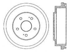 Centric Parts 123.40012 Rear Brake Drum