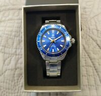 Shield Abyss Blue Bezel Blue Dial Mineral Crystal Stainless Steel 43mm Deep Dive