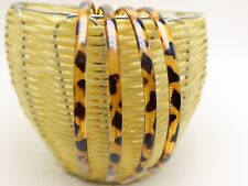 10 Brown Animal Print Plastic Smooth Headband Hair Band 8mm With Teeth Hair Acce