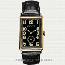 Szanto Men's SZ 4201 Art DeCo Tank-style Dress Watch 4200 Series < NEW