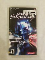 Street Supremacy (Sony PSP, 2006). Complete. Free Shipping. RARE CAR RACING