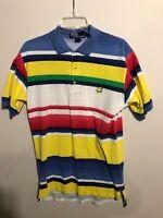 Vintage Men's Polo By ralph lauren multi color Masters Polo S Super Rare! Golf