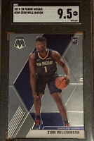 2019-20 Panini Mosaic ROOKIE RC Zion Williamson #209 SGC 9.5 Comp PSA BGS