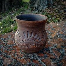 Ceramic wine mug. Manual work of Red Clay