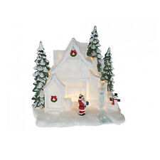 LIGHT UP CHRISTMAS HOUSE SCENE, BATTERY OPERATED, NEW AND BOXED