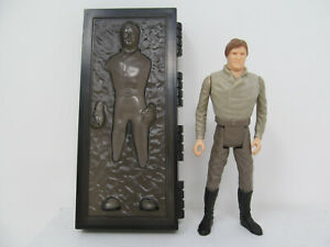 Han Solo in Carbonite repro Stan Solo action figure. Vintage-style Star Wars