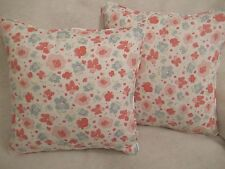 "VINTAGE FLORAL BY JOHN LEWIS 1 PAIR OF18"" CUSHION COVERS - DOUBLE SIDED & PIPED"