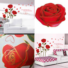 Red Rose Flower Wall Sticker Art Decor Decal DIY 1pcs Hot Sale Decals Removable