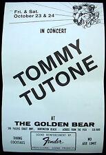 TOMMY TUTONE Tommy Tutone  USA Concert Poster Mint- 1981 Golden Bear ORIGINAL!!!