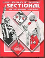 High School Basketball Program Illinois 1992 Tournament Boys AA