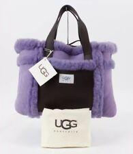 UGG Lavender Sheepskin Suede Brown Leather Medium Purse