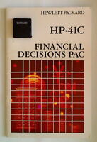 Financial Decisions Pac + Overlays + Manual + QRC [Vintage HP 41C Calculator]