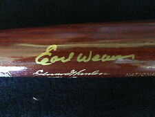1996 Hall of Fame Induction Bat Autographed by Earl Weaver - New in Bat Tube