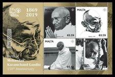 Malta 2019 S/Sheet Birth Anniversary of Mahatma Gandhi