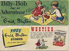 WEETIES AUSTRALIA CEREAL GIVEAWAY PROMO ENID BLYTON BILLY BOB HAS AN ADVENTURE F