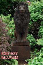 """59"""" Grandessa Sitting Lion - Concrete Cast Stone Garden Statue"""