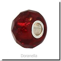 Authentic Trollbeads Glass 60186 Red Prism :1