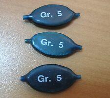 3 PIOMBI TECNICI A FOGLIA PER TROTA LAGO 5,0 gr PLASTIFICATI PESCA - TG4