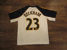MLS Los Angeles Galaxy David Beckham Boys Jersey, Adidas Clima365, Size L, EUC