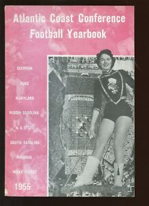 1955 NCAA Atlantic Coast Conference Football Yearbook EXMT