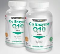 CoQ10 100mg 2 x 120 Botella Coenzima Q-10 Cápsulas Hecho en GB Futurevits Gluten