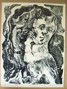 SIDE & FRONT VIEW by Ruth Freeman LITHOGRAPH 10 X 13