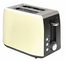 Quest 2 Slice Low Wattage Stainless Steel Cream Toaster