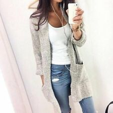 Women Long Sleeve Loose Knitted Sweater Jumper Cardigan Outwear Long Coat Jacket