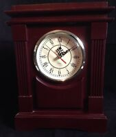 Wood Mantel Clock Battery Operated Quartz