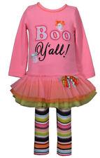 """Bonnie Jean Girl Halloween """"Boo Y'all!"""" Tutu Legging Set"""