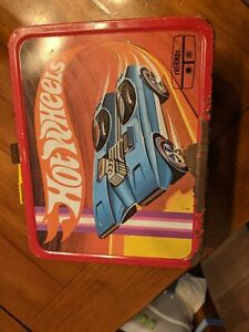 Vintage 1969 Tin Hot Wheels Lunch Box, no thermos