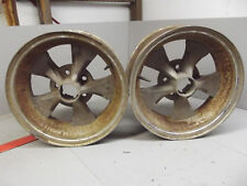 "VINTAGE 15"" HOTROD WHEELS Rims 5 on 4 1/2"" Ford Mopar Gasser"