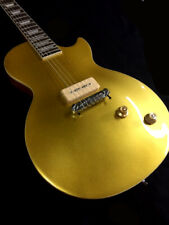 NEW 6 STRING LP STYLE 56' VINTAGE GOLD TOP ELECTRIC GUITAR-P-90 MAH BODY & NECK