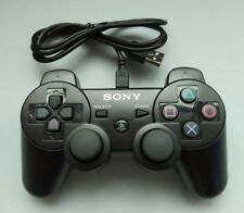 New PS3 Original Sony Playstation 3 Wire Dualshock Controller Black FREE Ship