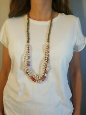 31 Bits Mercer Medley Long Necklace Wine $56 New With Tags NWT Handmade African