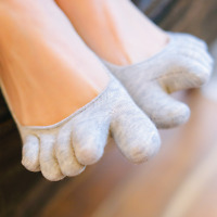 6 Pairs Womens Cotton Ankle No Show Invisible Boat Five Finger Toe Socks Low Cut