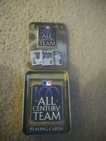 Major League Baseball All Century Team Playing Cards Limited Edition Tin