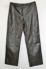 Rockmans Brand Chocolate Leatherette Dress Pants Size 14 BNWT #SD80