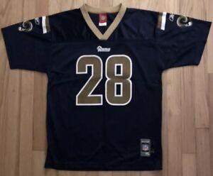 Los Angeles Rams Football Jersey Youth XL #28 Faulk Reebok NFL Throwback STL EUC